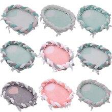 Baby Bassinet Nest for 50--80cm Braid Crib Elliptical Portable Cot Infant Soft Bed-Bumper