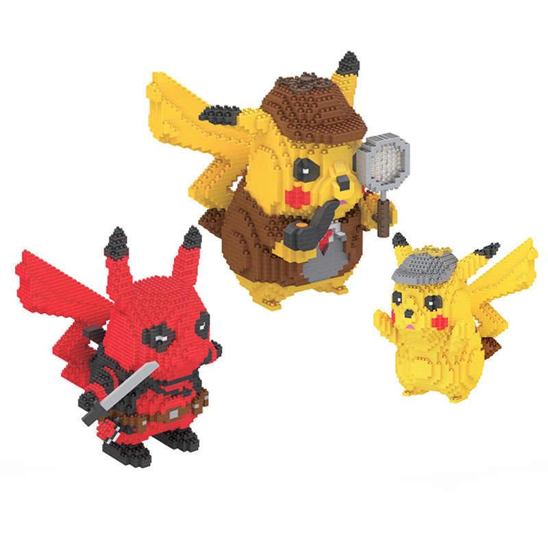 One Size Cartoon Fun Hat Detective Pikachu Hat Unisex