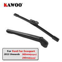 KAWOO Car Rear Wiper Blades Back Window Wipers Arm For Ford For Ecosport Hatchback (2013 Onwards) 305mm Auto Windscreen Blade