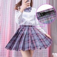Summer Women Skirt Korean Fashion Short Polyester Harajuku High Waist Plaid Pleated Y2k Japan Style Kawaii Sweet Mini Skirts