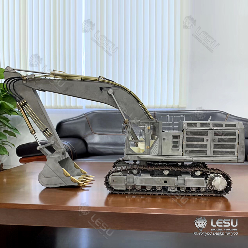RCLESU model 1/14 C374F crawler hydraulic hook machine extra large digging shovel 1/14 lesu heavy hydraulic excavator