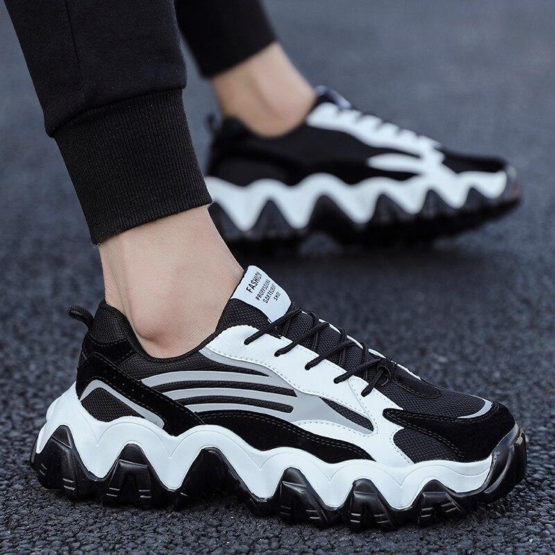 Shoes Men Fashion Women Chunky Sneakers Casual Dad Shoes Male Lace-up Mesh Sport Shoes Woman Platform Comfortable Walking Shoes
