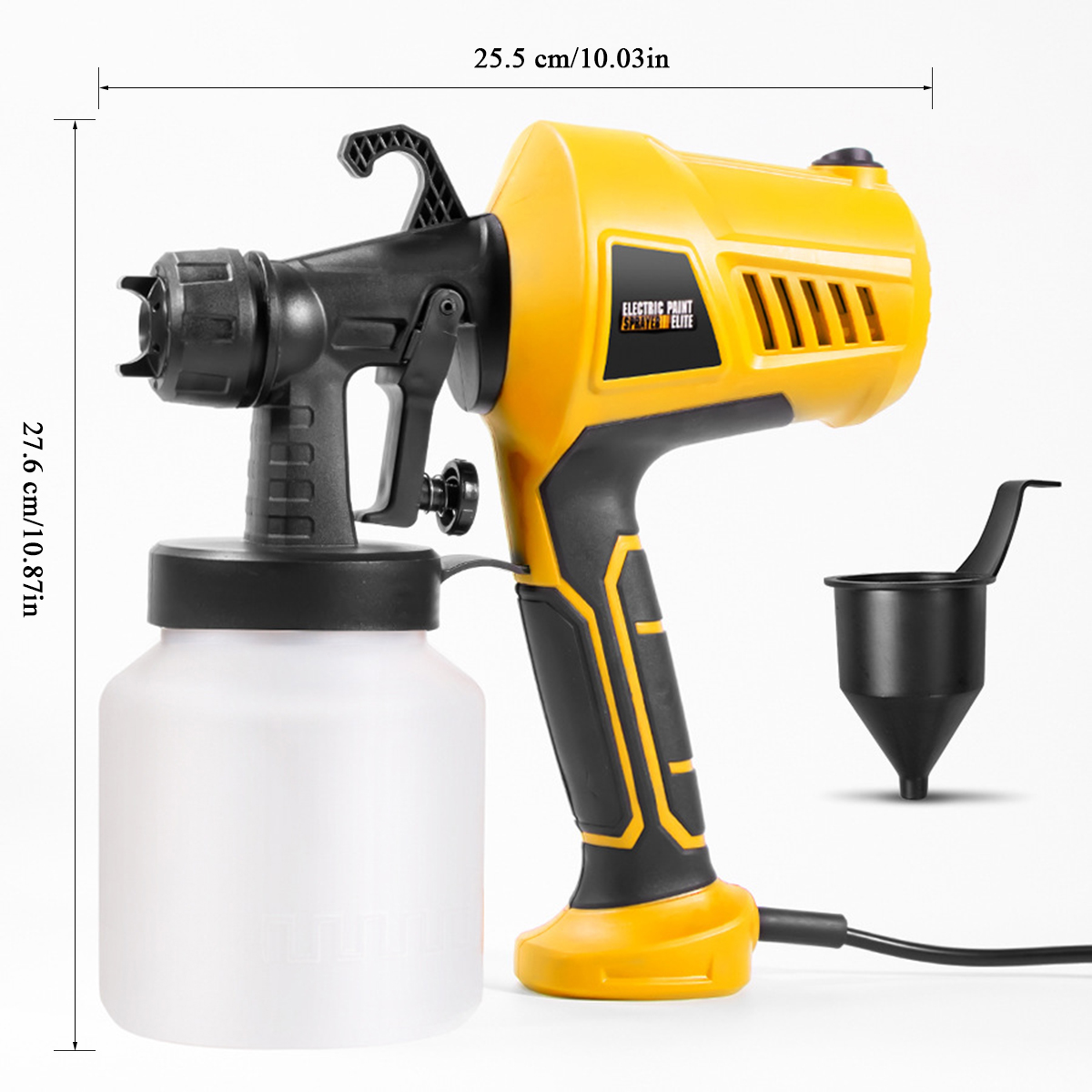 Tools : 28000rpm Spray Gun 400W 220V 110V High Power Home Electric Paint Sprayer 3 Nozzle Easy Spraying and Clean Perfect for Beginner
