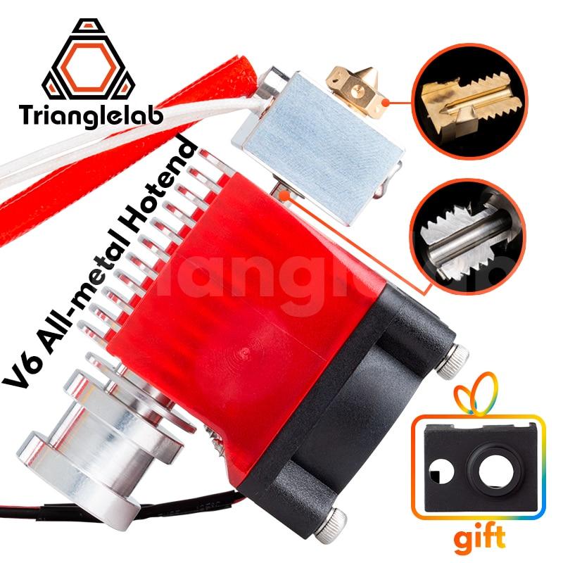 Trianglelab highall-metal v6 hotend 12v/24v remoto bowen impressão j-cabeça hotend e ventilador de refrigeração suporte para e3d hotend para pt100