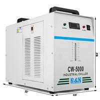 CW 5000DG Industrial Chiller De Água para 80 W/100 W Eixo de Refrigeração de Soldagem Topo