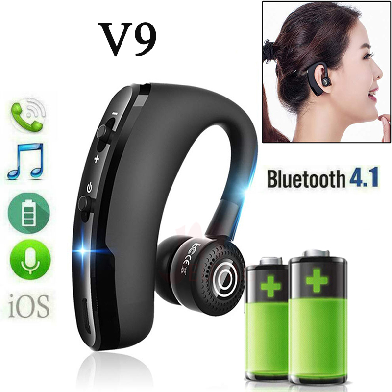 Original <font><b>V9</b></font> business wireless <font><b>bluetooth</b></font> <font><b>headset</b></font> driving car for iPhone AndroidPK V8 i7 i9 i14 i18 i12 i11 i30 PRO TWS MAX image