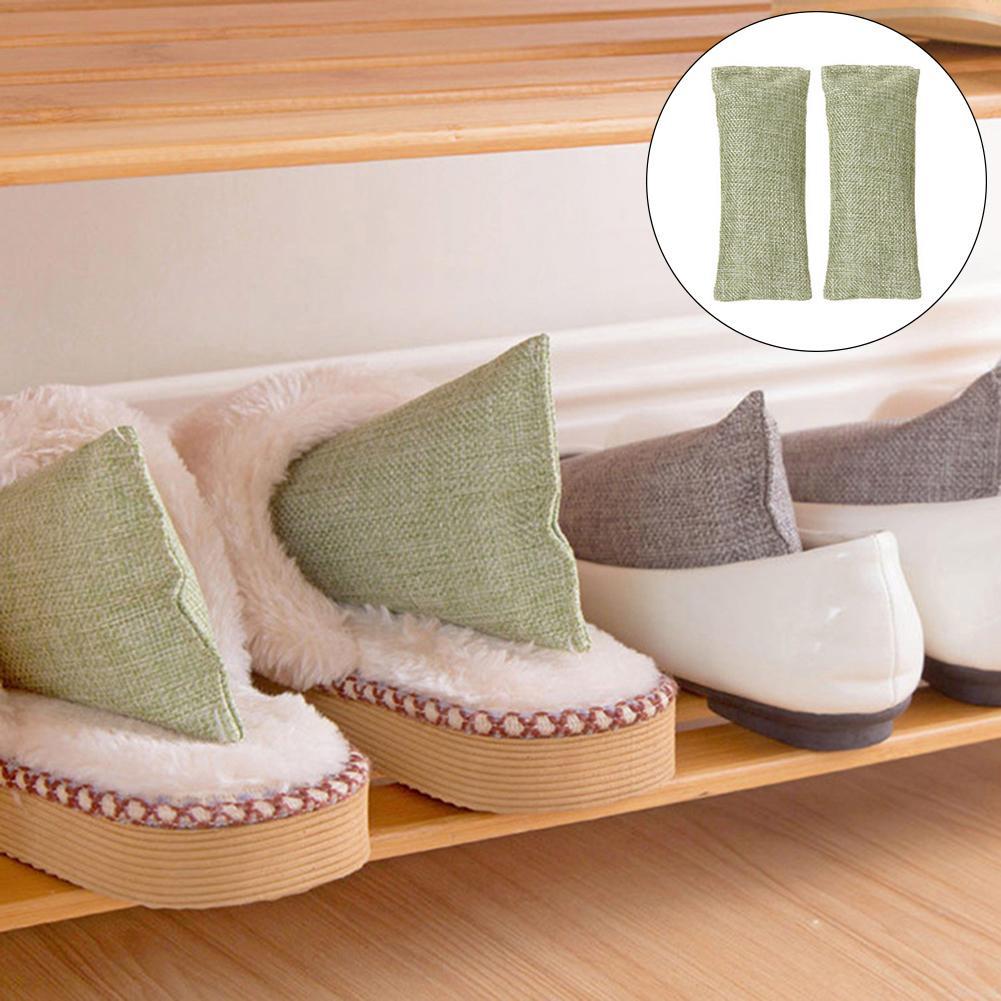 2Pcs Bamboo Charcoal Bag Odor Absorber Car Deodorizer Air Purifying Freshener