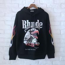Men Women Hoodies Rhude Sweatshirts 2019 New Legend Eagle Logo Hoodie  LOSANGELS Kanye West James Sweatshirt Streetwear
