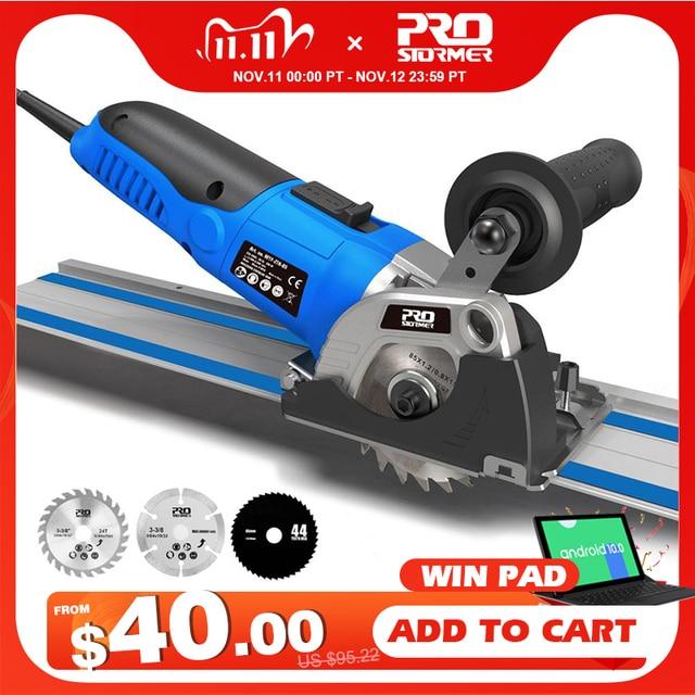 120V/230V Mini Kreissäge 500W Plunge Schneiden Track Schneiden Holz Metall Fliesen Cutter 3 Klingen elektrische Saw Power Tool durch PROSTORMER
