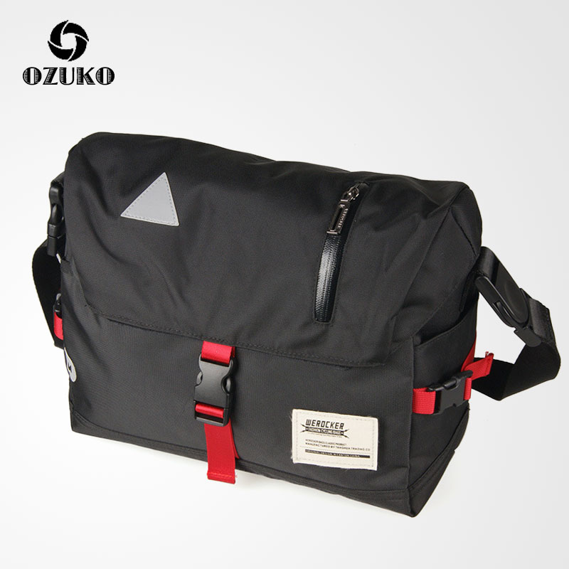 OZUKO New Men's Crossbody Bags Fashion Cycling Messenger Bags High Quality Waterproof Travel Shoulder Bag For Women Male Mochila