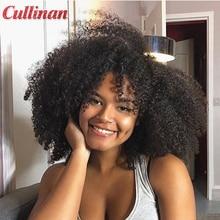 Оптовая продажа, человеческие волосы, пучки оптом, бразильские афро кудрявые пучки 1-3 шт./лот, смешанная длина, кулинан, натуральные волосы д...