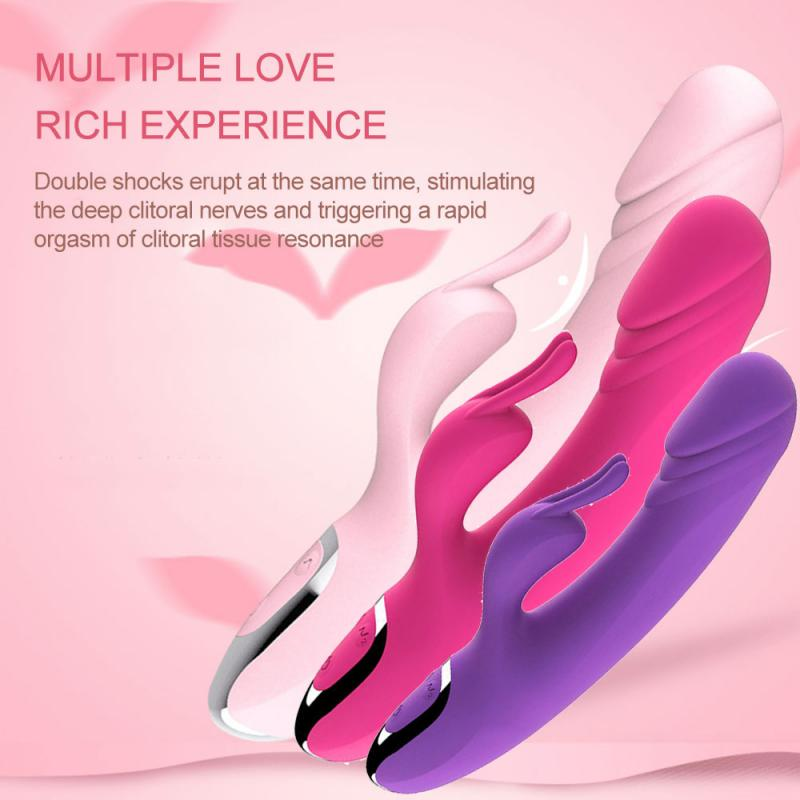 Female Couple <font><b>Dildo</b></font> <font><b>Sex</b></font> <font><b>Toy</b></font> Anal Vibrator Rabbit G-spot Orgasm Masturbation Device Simulation Vibration <font><b>Massage</b></font> Stick image