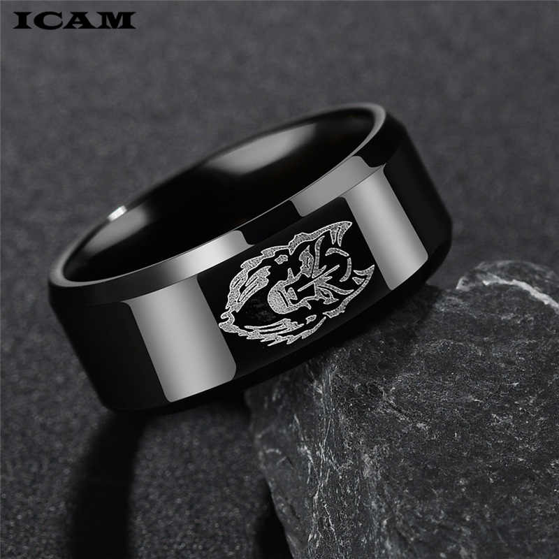ICAM Cool Lion Head Band แหวนไท