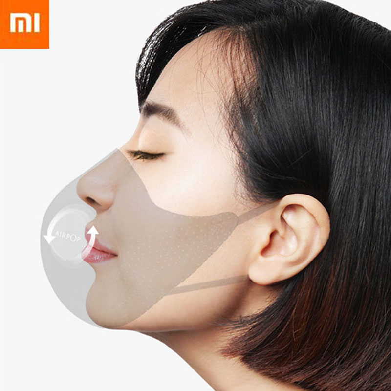 2020 Fashion Xiaomi Mi Airpop Face Cover Activated Carbon Filters Anti Haze Dust Breath Valve Safety