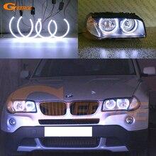 우수한 울트라 브라이트 COB led 천사 눈 헤일로 링 자동차 스타일링 BMW E83 X3 facelift 2007 2008 2009 2010 헤드 라이트