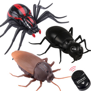 Робот-паук, дистанционное управление насекомыми, тараканов, радиоуправляемая игрушка на ИК-управлении, набор для моделирования, Электричес...