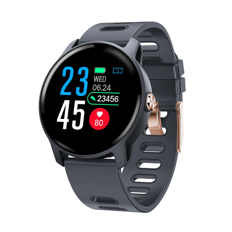 Smart Watch <font><b>S08</b></font> Fitness Tracker Heart Rate Monitor Pedometer IP68 Waterproof Women <font><b>Smartwatch</b></font> for Android IOS Phone image