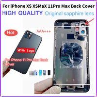 Cover posteriore completa per iphone Xs 11 Pro Max custodia porta batteria telaio centrale alloggiamenti telaio SIM vassoio posteriore con parti