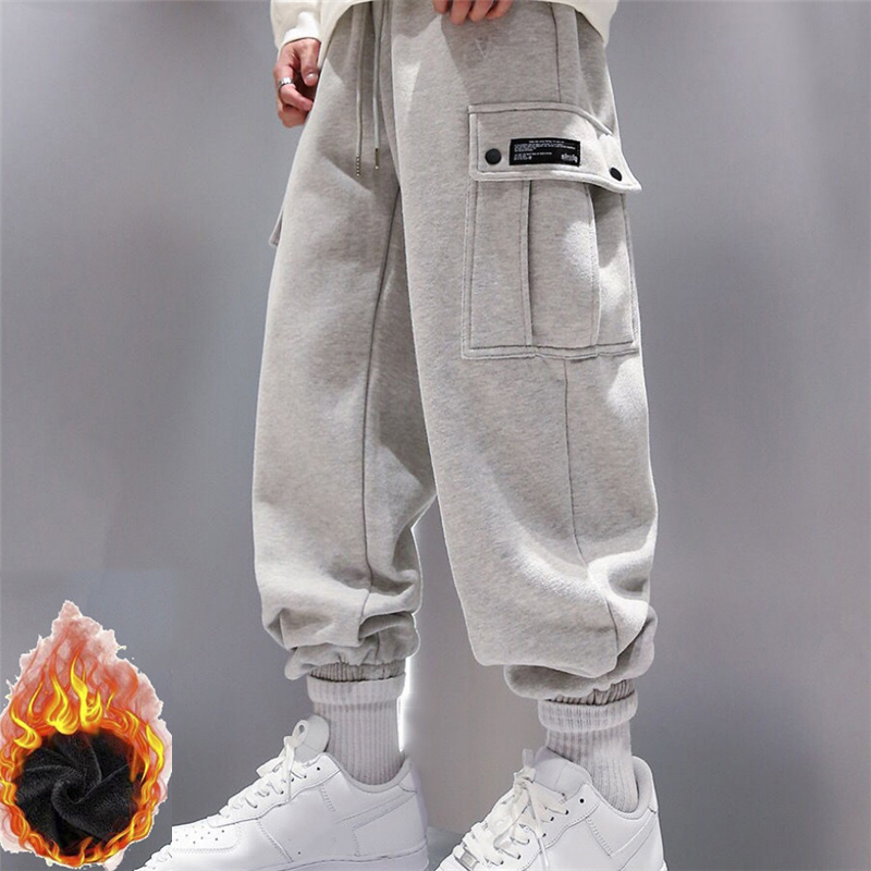 New Arrival Trendy Men Sweatpants Plus Size Winter Loose Trouser Outdoor Male Pocket Warm Comfort Jogging Sport Pants Pantalones