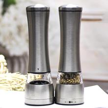 Stainless Steel Manual Salt Pepper Mill Spice Grinder Shaker Home Kitchen Tool  no risk of glass extremely durable for use