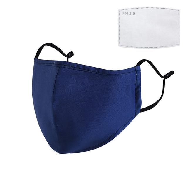 Reusable Cotton Mask Breathing Valve Mask PM2.5 Anti-fogcarbon Adult Three-dimensional Protective Mask Filter Anti Flu Mask 5