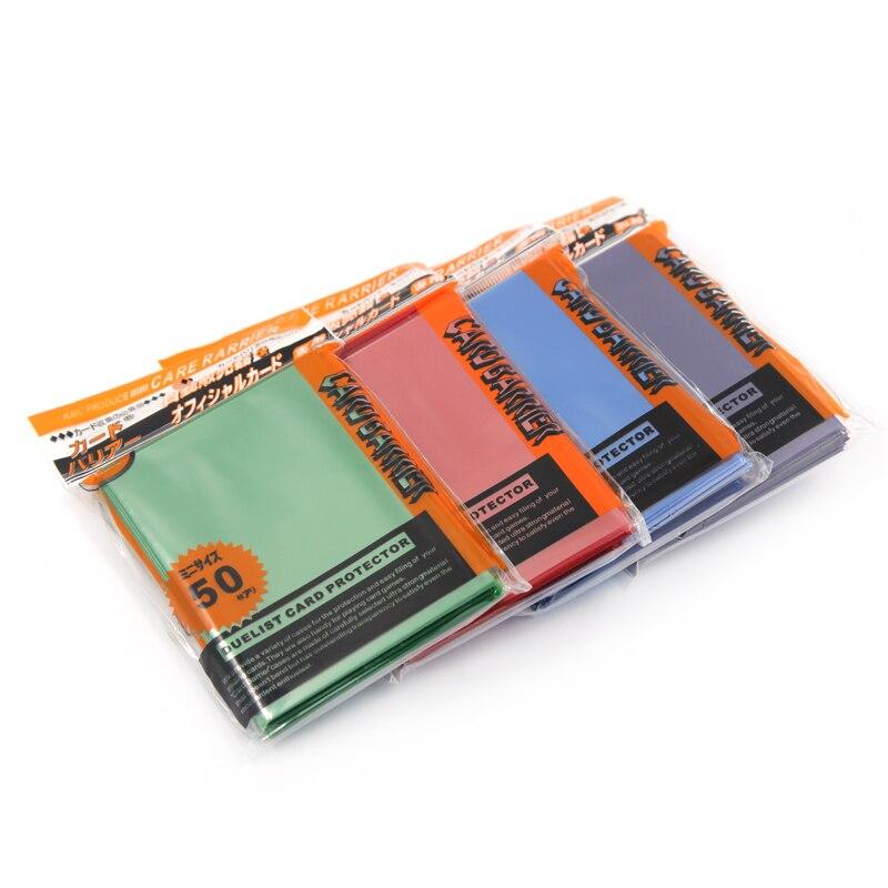 50 PCS/SET 65*90mm Matt Scrub Muticolor Back Card Protector for Board Game s Yugioh  Sleeves TCG