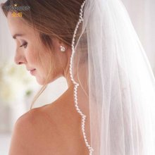 Topqueen v35 красивый короткий сад свадебная вуаль Белый цвет