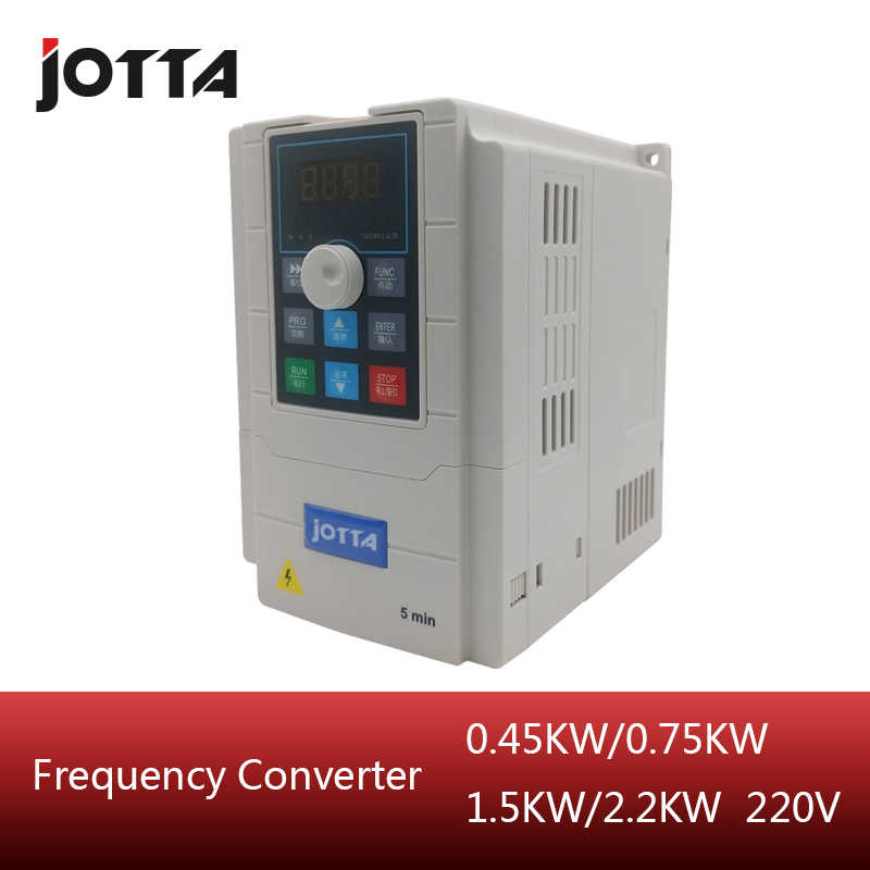 220V 0.75KW 1.5KW 2.2KW vector Inveter Three Phase VFD inverter Frequency Converter Variable Frequency Drive Motor Speed Control