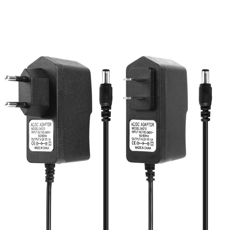 ALLOYSEED <font><b>AC</b></font> 110-240V to DC 4.2V 8.4V 12.6V 16.8V <font><b>21V</b></font> 1A 2A Charger <font><b>Adapter</b></font> For 18650 Lithium Battery Charger Plug Power <font><b>Adapter</b></font> image