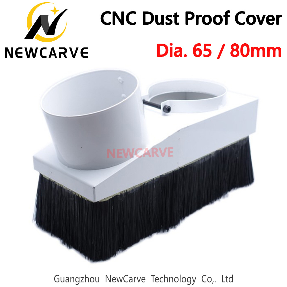 CNC 65MM 80MM Engraving Dust Cover Collector For 800W/1.5KW/2.2KW Spindle Motor NEWCARVE