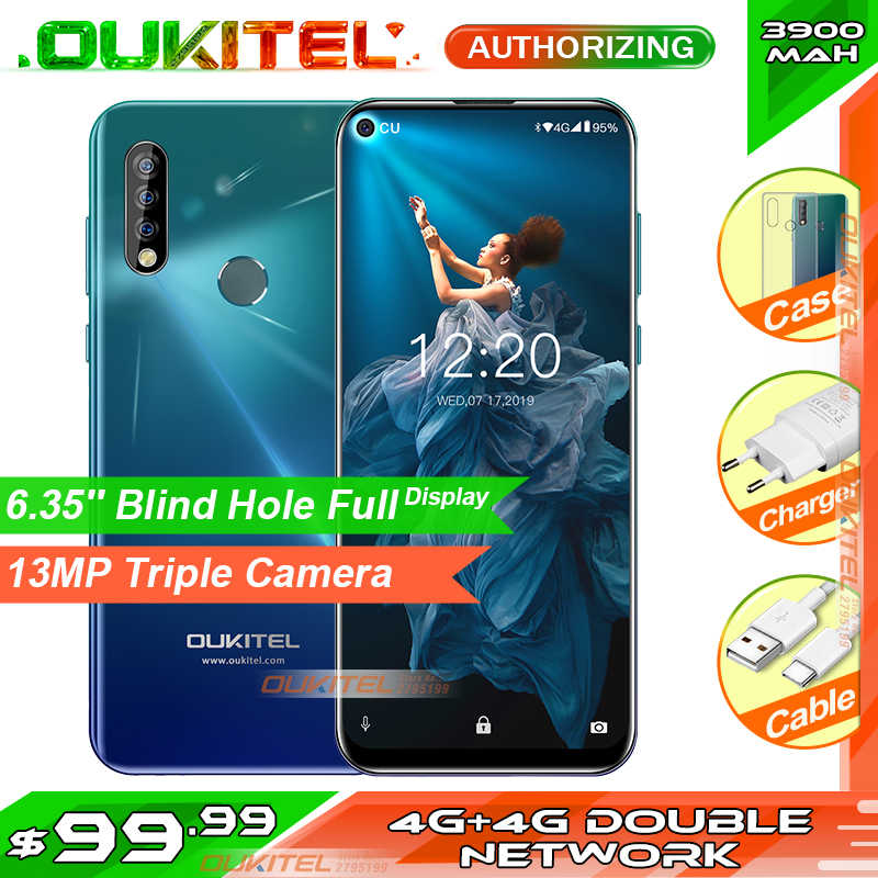 OUKITEL C17 Pro 6.35 ''4 GB RAM 64GB ROM MT6763 4G Smartphone Vingerafdruk Gezicht ID Unlock Android 9.0 3900mAh Mobiele Telefoon