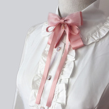 Brooch Blouse Collar-Pin Ribbon Ties Bow-Tie Necktie College-Uniform Student-Accessories