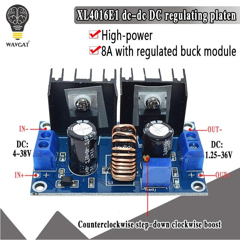 XL4016 PWM regulowany 4-36V do 1.25-36V Step-Down moduł tablicy Max 8A 200W DC-DC przekształtnik buck zasilacz
