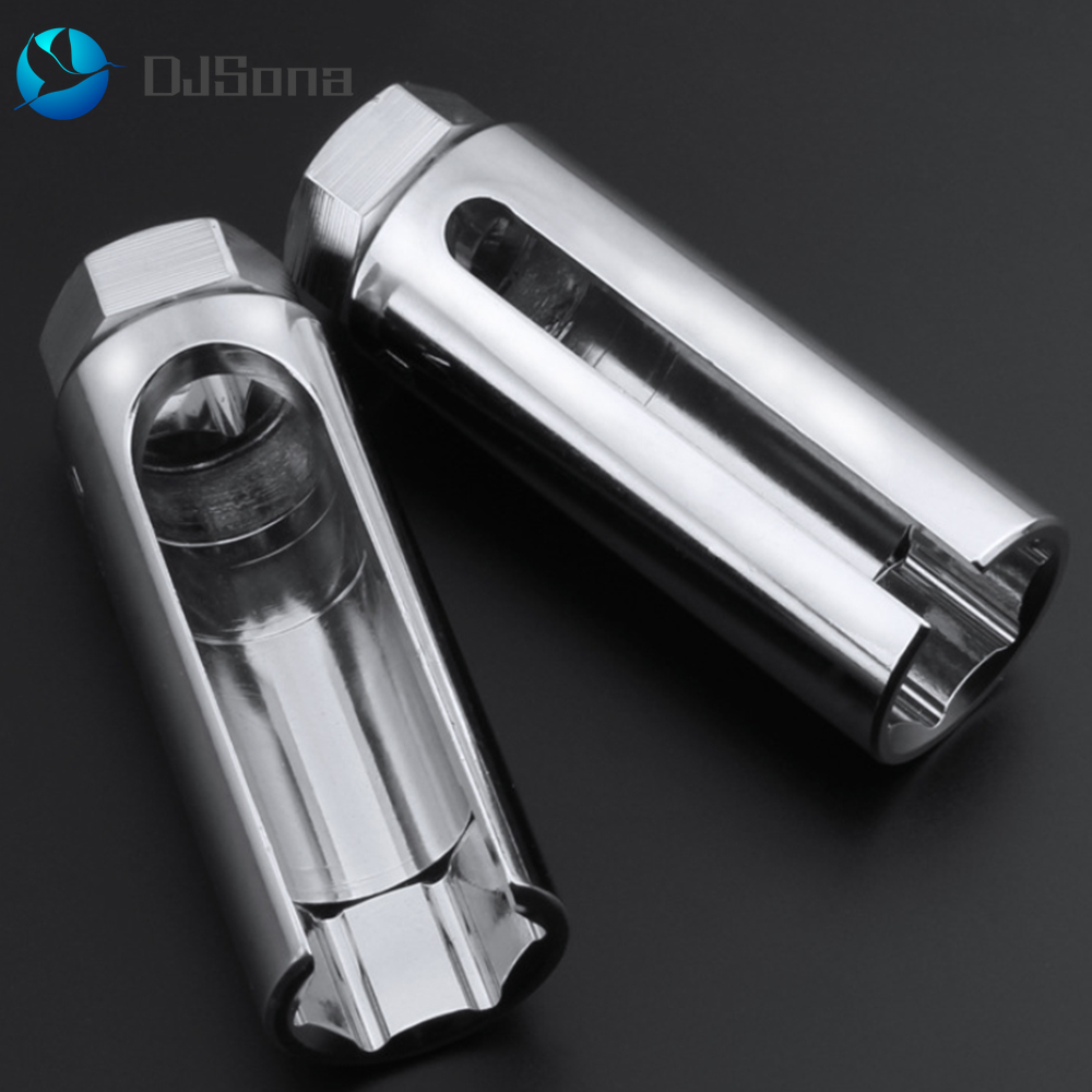 "Universal 22mm 3//8/"" Car O2 Oxygen Sensor Wrench Offset Removal Socket Tool Black"