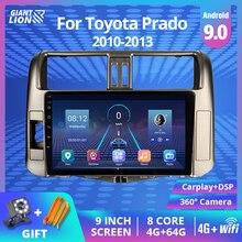 2DIN Android 9.0 Car Radio For Toyota Land Cruiser Prado 150 2010-2013 Car Multimedia Video Player Stereo Receiver Navigation