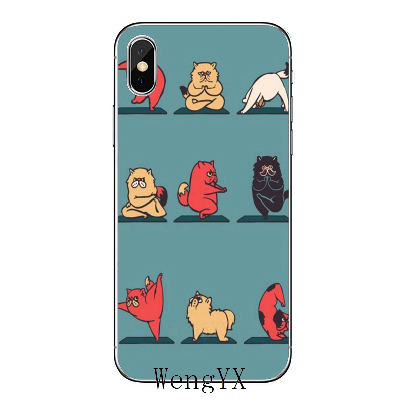 Funny Cat Yoga Poses For Xiaomi Redmi Note 6 5 5a 4 3 Pro S2 5 Plus 6a 4a 4x Pocophone F1 Cover Case Half Wrapped Cases Aliexpress