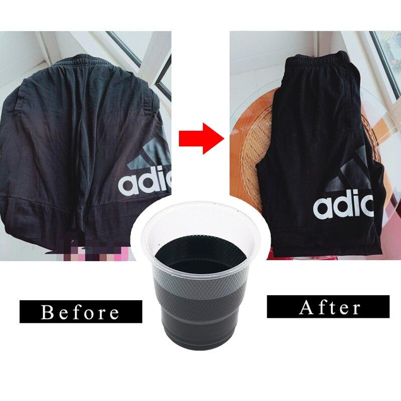 10g Black Fabric Dye Powder Dye For Clothing Textile Cotton Nylon Jeans Dress Dyeing Clothing Renovation Acrylic Paint Pigment