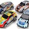 Racing Car Alloy Iron 6Pcs Set Toy Shell Taxi Model Inertia Sliding Rail Car Mini Small Gift Toys for Children Boys