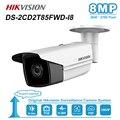 Hikvision 8MP (4 K) Пуля IP Камера PoE Открытый Ночное видение радиус действия ИК: 50/80 м CCTV камеры видеонаблюдения DS-2CD2T85FWD-I5/I8