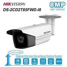 Hikvision 8MP (4 K) bala Câmera IP PoE Ao Ar Livre Visão Nocturna do IR Distância 50/80M CCTV Segurança Vigilância DS 2CD2T85FWD I5/I8