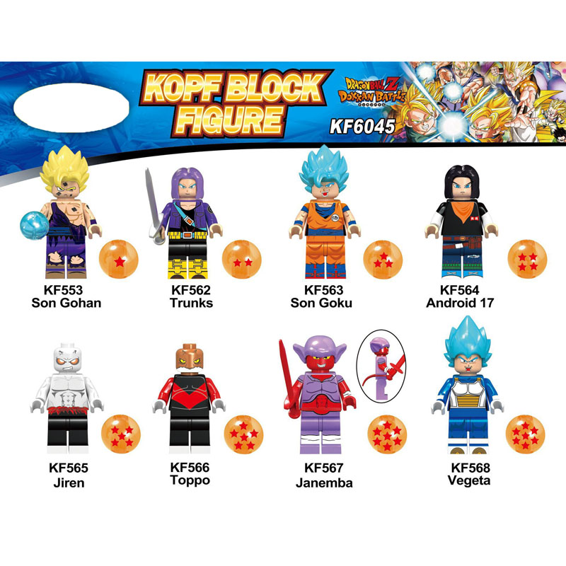 KF6045 Single Sale Building Blocks Dragon Ball Son Gohan Trunks Janemba Vegeta Bricks Action Learnng Figures For Children Toys
