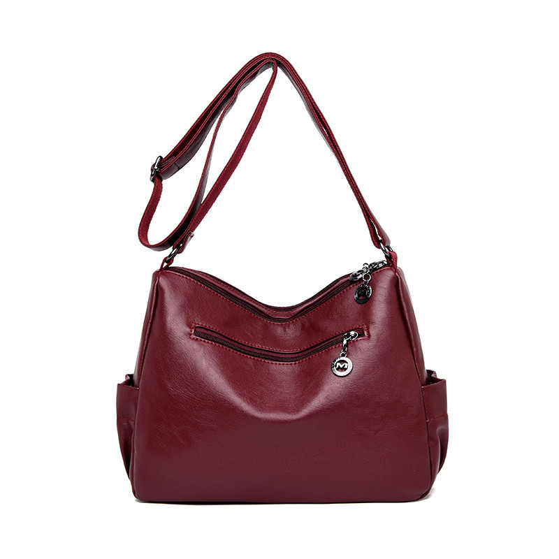 Image 4 - 2019 женская сумка через плечо, Роскошная большая сумка из мягкой кожи, женские сумки мессенджеры, большие женские сумки, дизайнерская брендовая сумка bolsa feminina-in Сумки с ручками from Багаж и сумки
