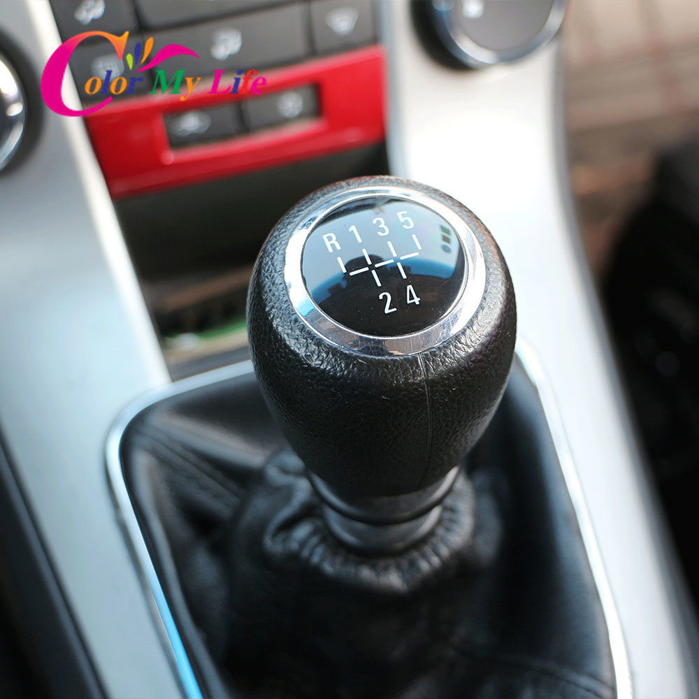 5 6 Speed MT Car Gear Shift Knob Gear Head Handball Case for Chevrolet Cruze 2009 2010 2011 2012 2014 2015 Accessories