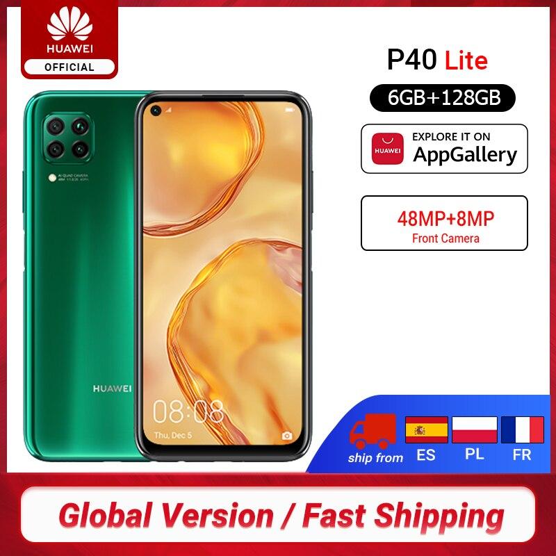 Versión Global Huawei P40 lite 6GB 128GB Smartphone 48MP AI cámaras 6,4