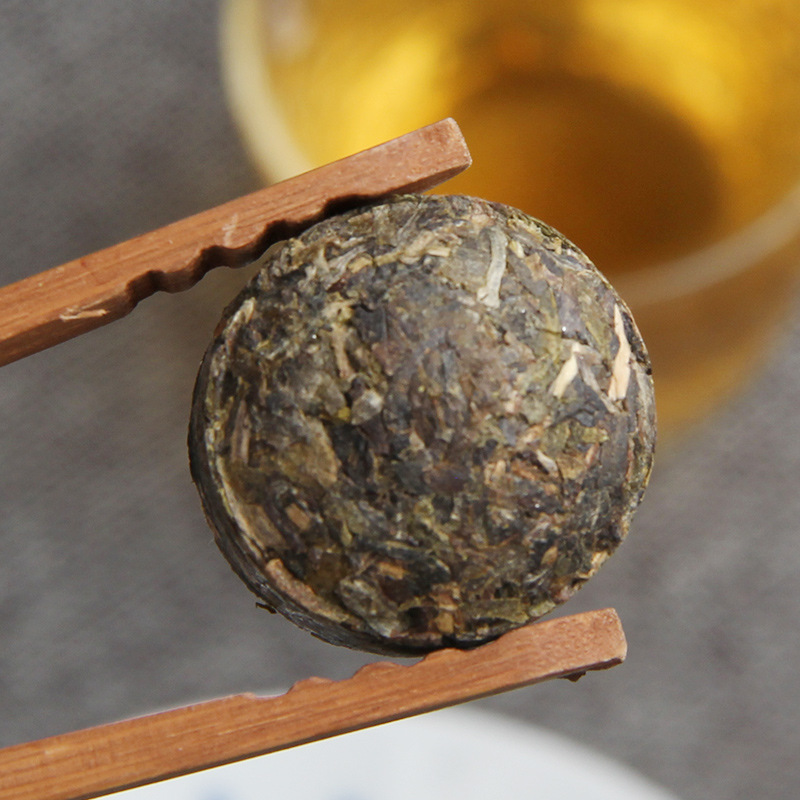 100g/jar The Oldest Pu'er Tea Chinese Yunnan Original Taste Raw Tea Green Food for Health Care Weight Lose 2