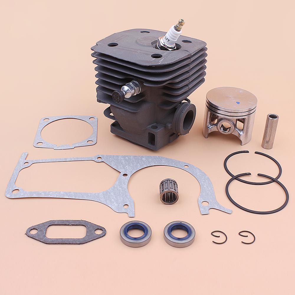 58mm Cylinder Piston Kit For Husqvarna 395 395XP 395EPA Crankcase Muffler Gasket Oil Seal Decompression Valve Bearing Chainsaw