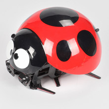 Children Gift Plastic Intelligent Christmas Funny Insect Simulated Kids Home Remote Control Toy Birthday Outdoor Ladybug Robot(China)