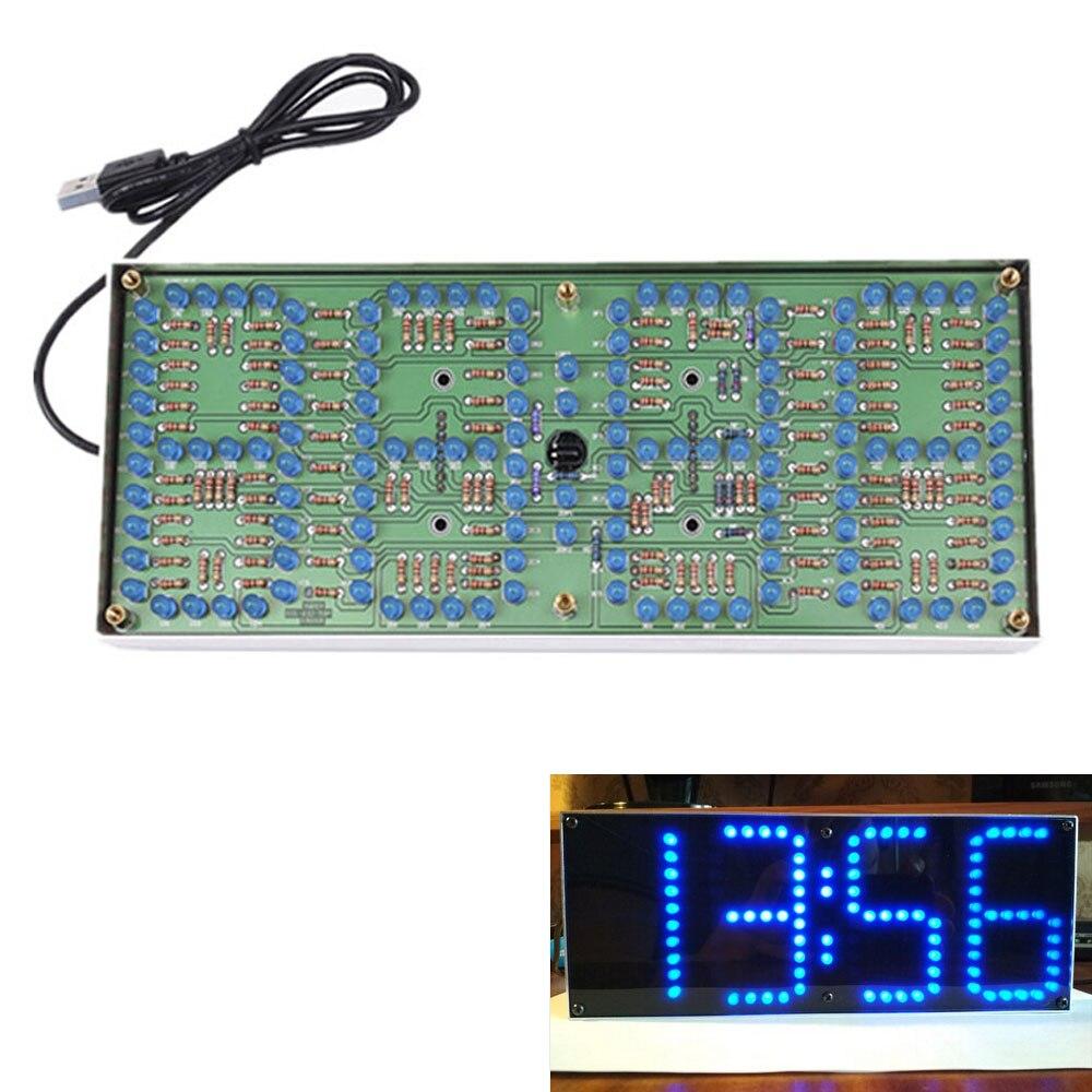 Display de Tela Faça Você Mesmo Vermelho – Azul Supersized Controle Remoto Relógio Preciso Eletrônico Digital Temporizador Ecl-132 Kit