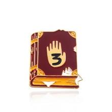 Gravity Falls Journal 3 Pins Brooch Dipper Diepsloot Diary Book Pendant Badges Brooches for Women Men Kids Jewelry Cute Gifts hirsch a gravity falls journal 3