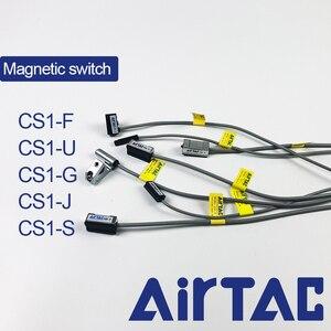 Airtac CS1-F CS1-U CS1-G CS1-J Пневматический воздушный цилиндр Магнитный герконовый переключатель светодиодный индикатор